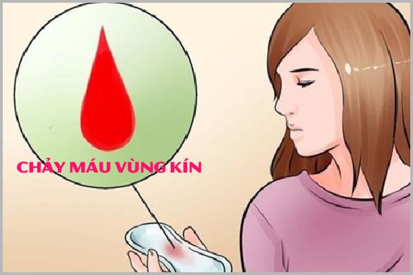 Lý do nào gây ra tình trạng chảy máu vùng kín?