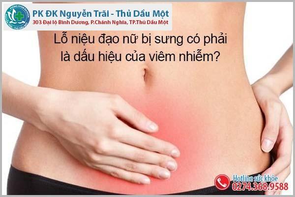 Lỗ niệu đạo nữ bị sưng có phải là dấu hiệu của viêm nhiễm?