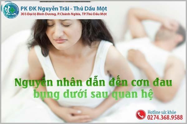 Đâu là nguyên nhân dẫn đến cơn đau bụng dưới sau quan hệ?